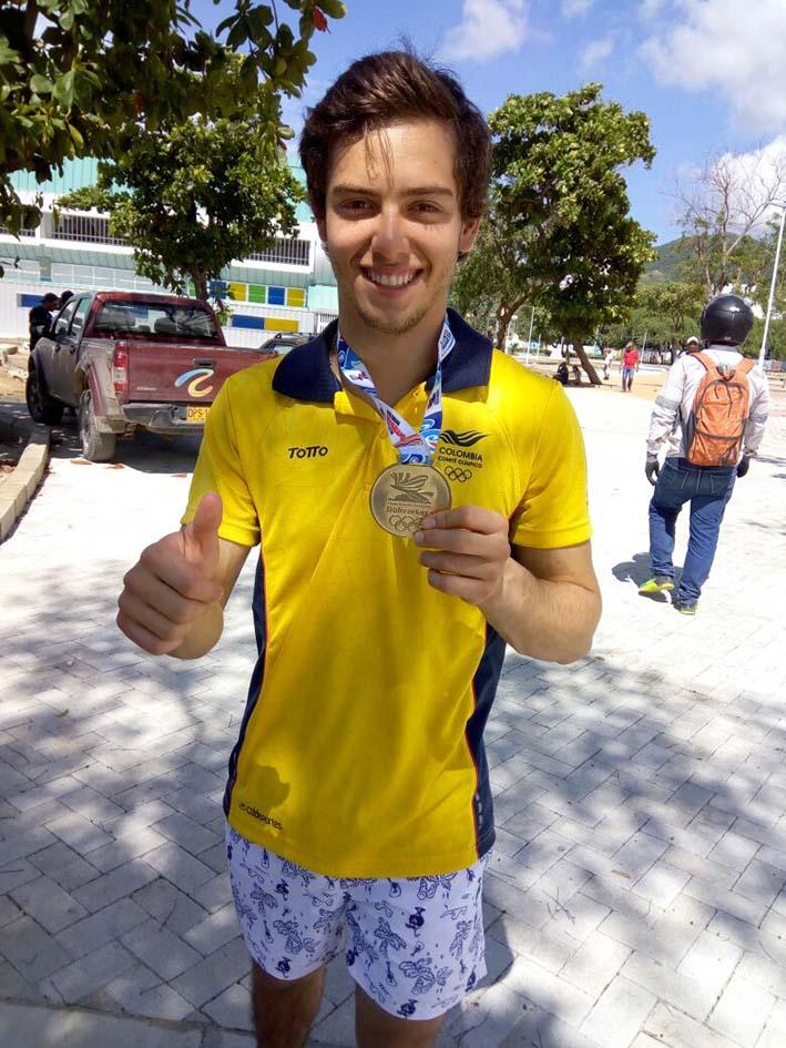Jorge Rocha, primer oro samario en esta versión de los Bolivarianos.