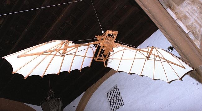 Máquina ideada por Leonardo da Vinci . Efe/Oscar Pipkin