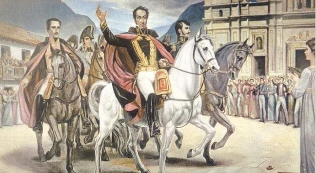 Bolívar, Santander y Anzoategui.