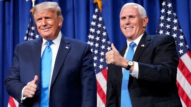 Donald Trump y su vicepresidente, Mike Pence.