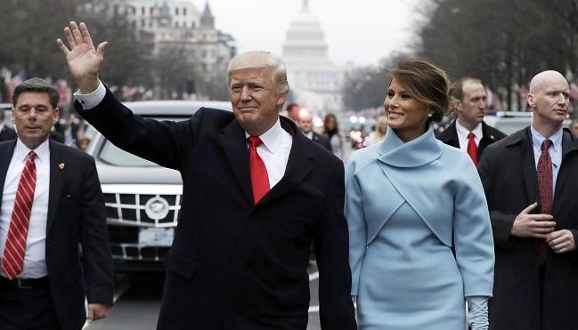 Donald Trump y su esposa, Melania Trump.