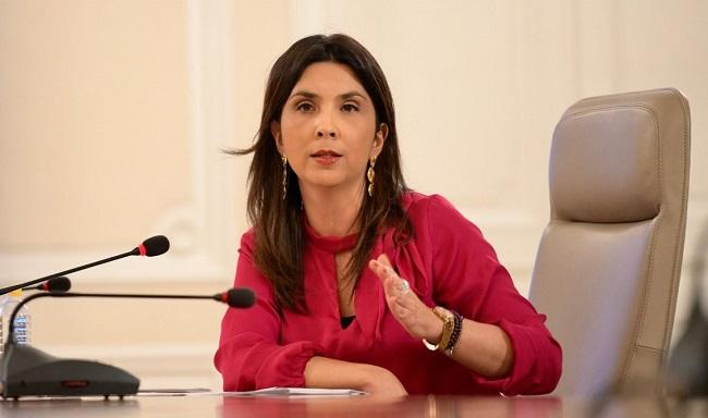 María Victoria Angulo, ministra de Educación.