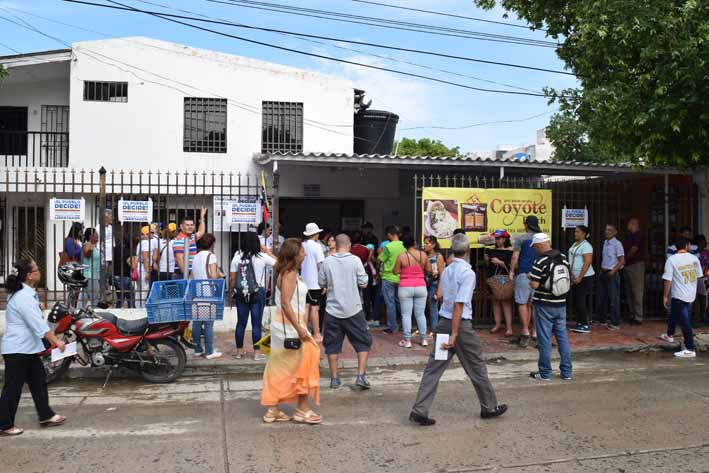 Venezolanos en Santa Marta participaron de  consulta en contra de la constituyente de Maduro