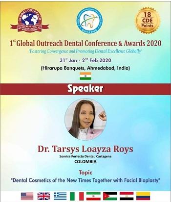 Loayza Roys llevará a Asia una exposición sobre la actualidad de la estética dental y facial.