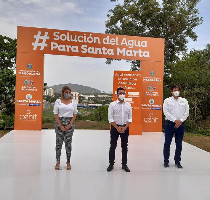 Con la construcción de la planta de El Curval se suministrarán 2.400 litros de agua por segundos a Santa Marta.